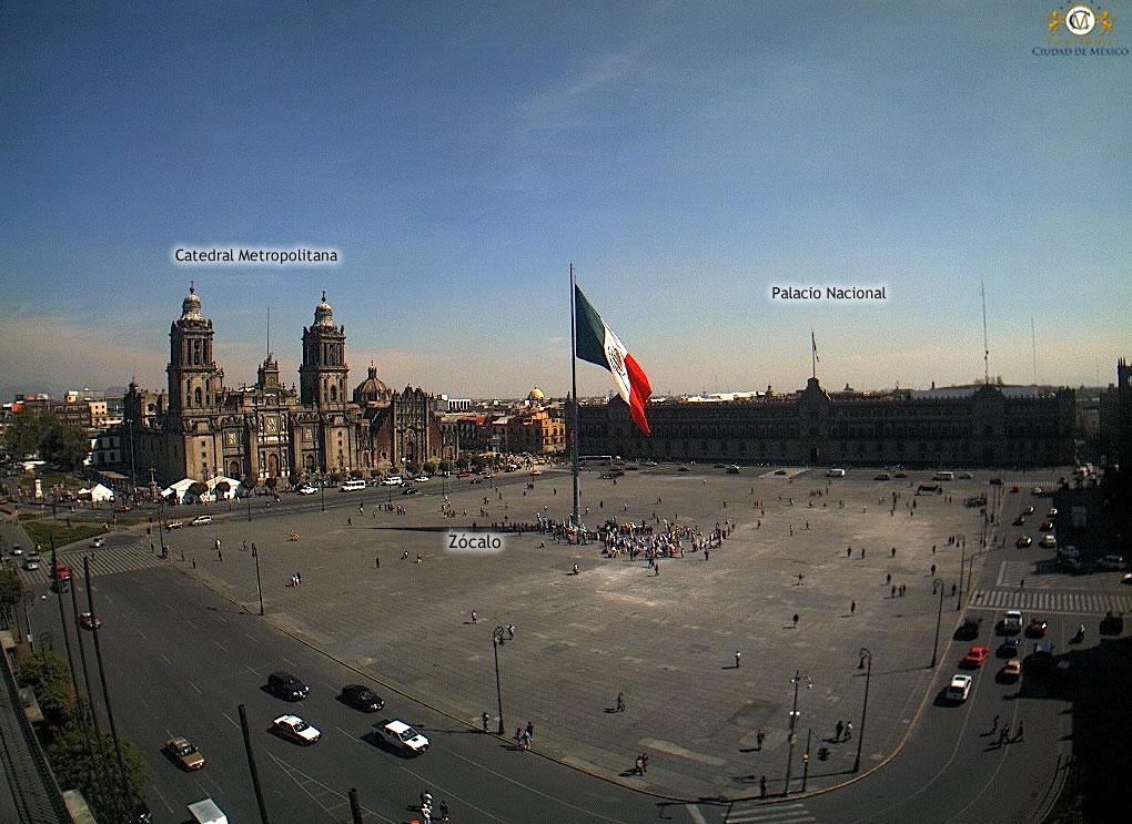 zócalo ciudad de méxico webcams de méxico